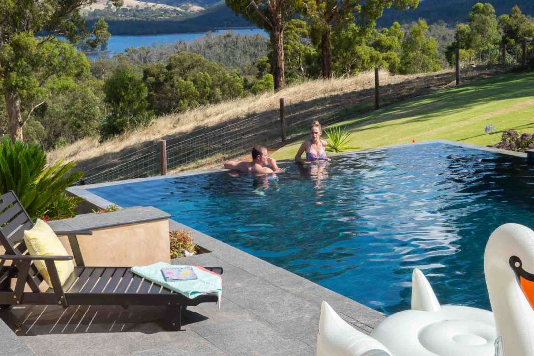 How to Turn Your Garden into a Backyard Gym and Save - Do laps in your outdoor pool, Australian Outdoor Living.