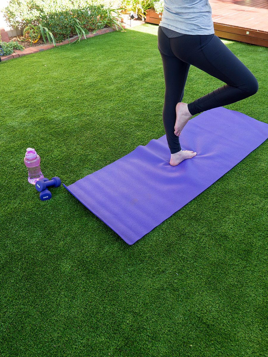 6 Awesome DIY Backyard Design Ideas for Spring You Won't Be Able to Resist - Create your own backyard yoga retreat, Australian Outdoor Living.