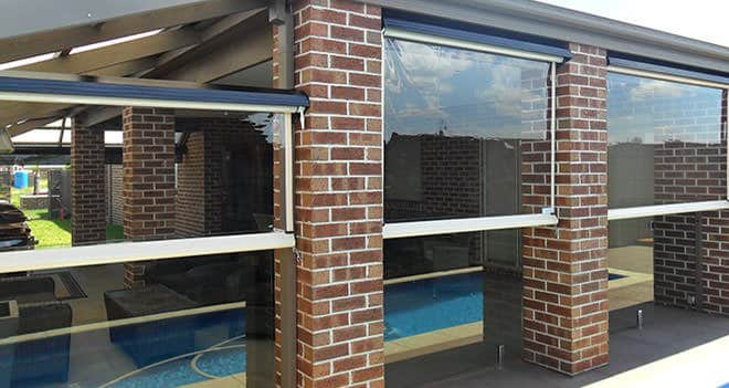 Outdoor Blinds Designs for Your Backyard - Clear outdoor blinds are a great opportunity to compliment heavier architectural features, Australian Outdoor Living.