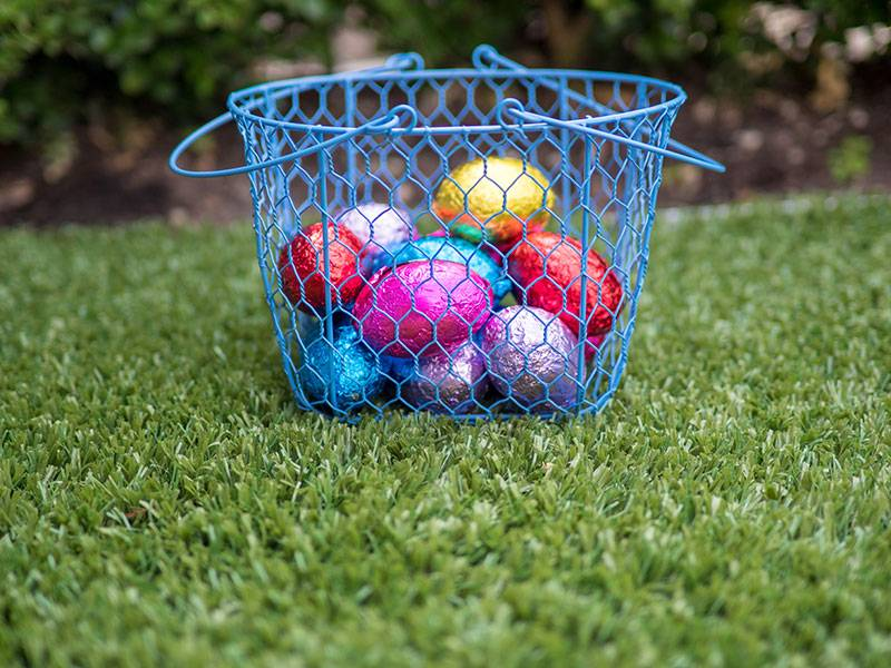 Top tips for an eggcellent Easter hunt - Have a Communal Basket for all the Eggs, Australian Outdoor Living.