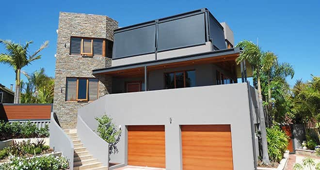 Outdoor Blinds Designs for Your Backyard - Darker coloured outdoor blinds are better if your home has darker features, Australian Outdoor Living.