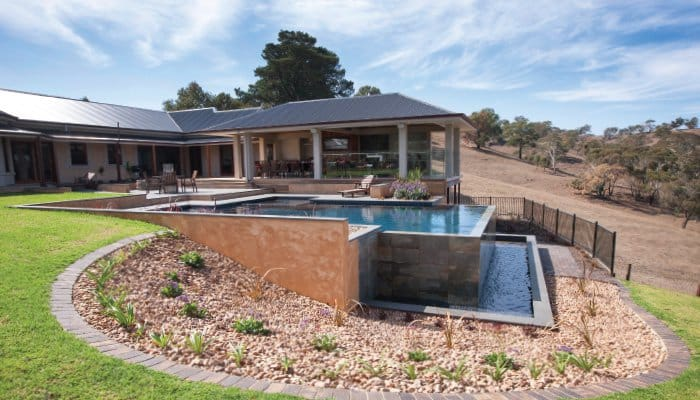 Swimming Pool Designs For A Sloped Backyard Australian Outdoor Living