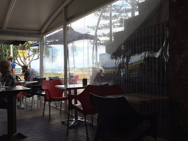 """Robbie McEwen Chooses Australian Outdoor Living's Blinds for His Miami, QLD Café - """"With what we've got now, the place looks probably even better with the blinds down than it does with them up!"""" -Robbie McEwen, Australian Outdoor Living."""