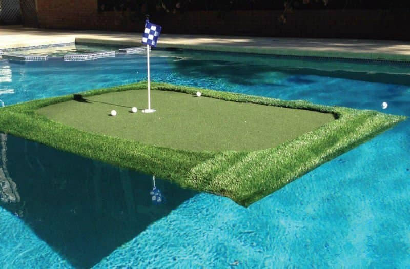 The Top 8 Pool Accessories You'll Never Need - And Desperately Want - Floating Golf Green, Australian Outdoor Living.