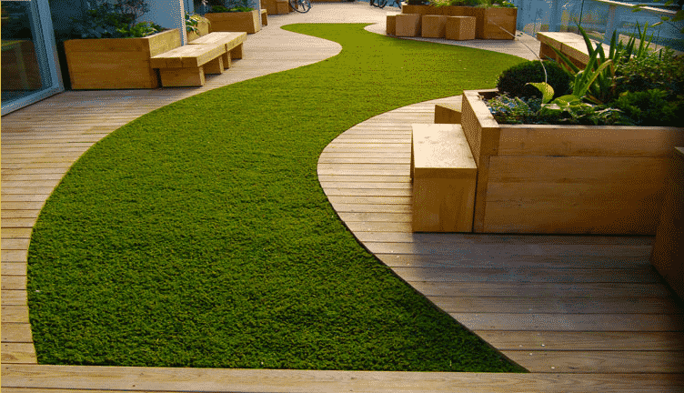 Artificial Grass and Decking: the Perfect Pair - Add size and shape with artificial grass and timber decking, Australian Outdoor Living.