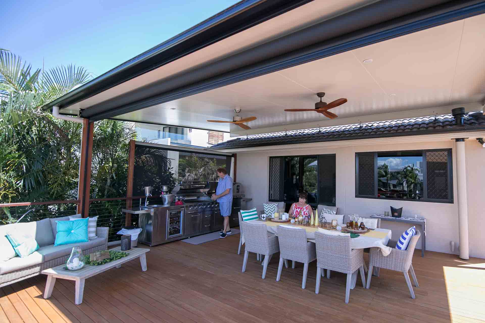 How to create the ultimate BBQ area - Cover up with a verandah, patio or pergola, Australian Outdoor Living.