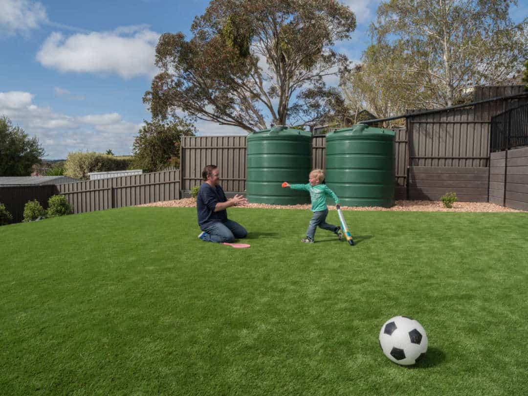 Five benefits of artificial grass - Artificial grass is child and pet friendly, Australian Outdoor Living.