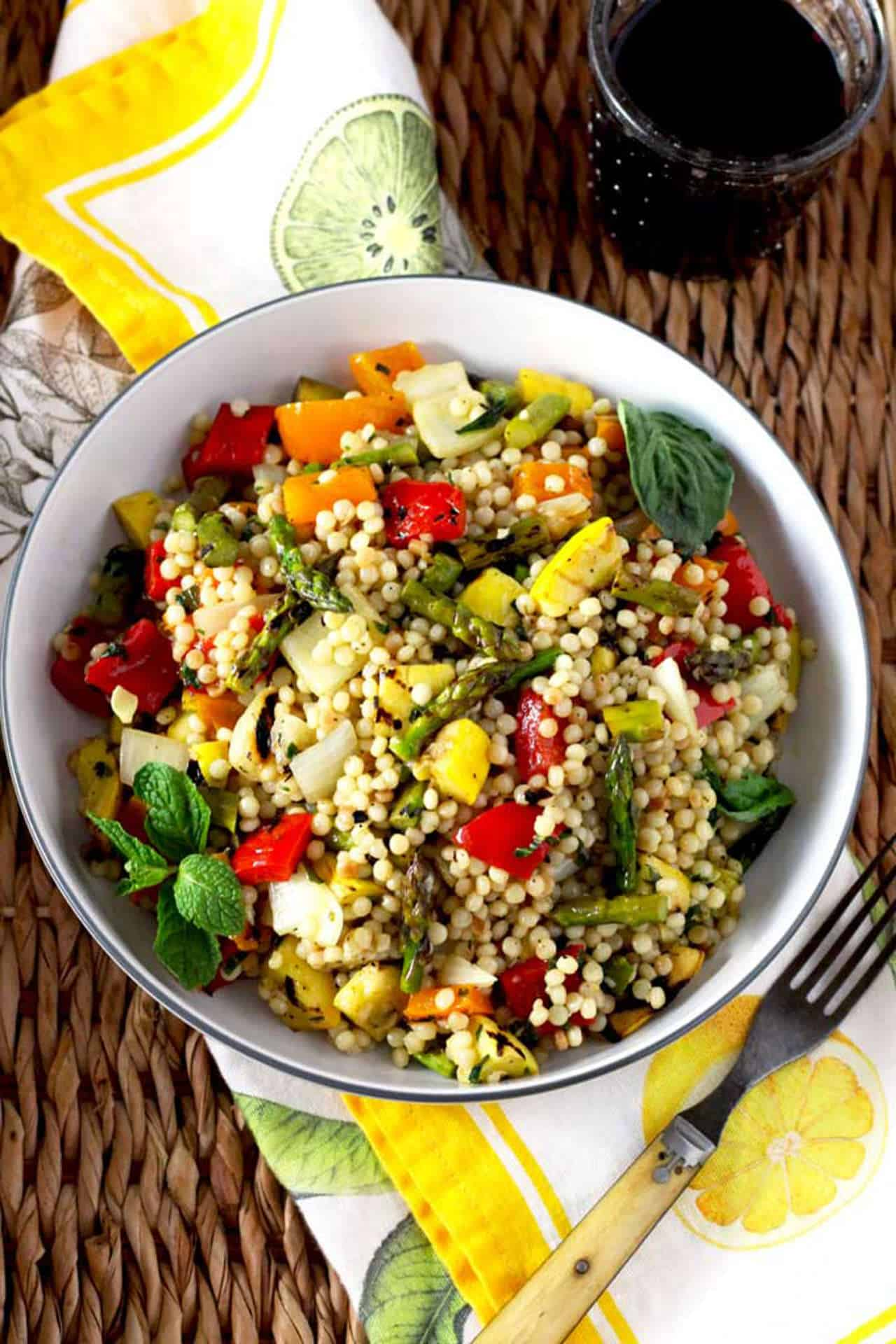 The BBQ is not just for the meat-lovers - Cous cous salad, Australian Outdoor Living.