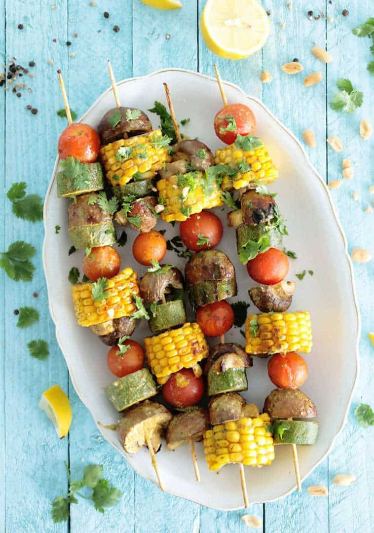 The BBQ is not just for the meat-lovers - These veggies skewers look simply mouthwatering, Australian Outdoor Living.